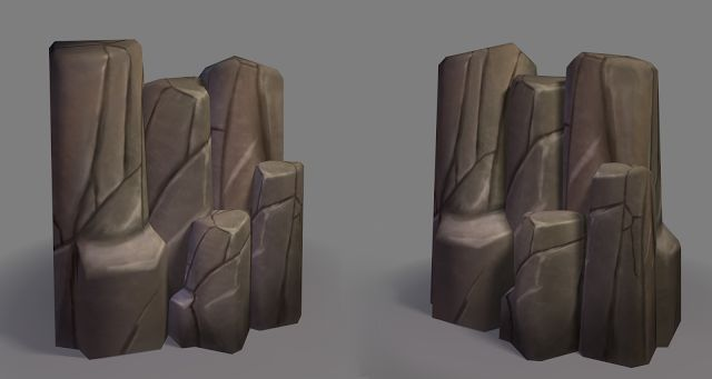 Beautiful Low Poly Cliff tile