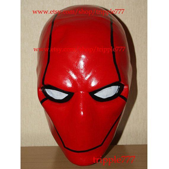 Batman Red Hood Mask Red Hood Costume Red Hood by tripple777, $119.00