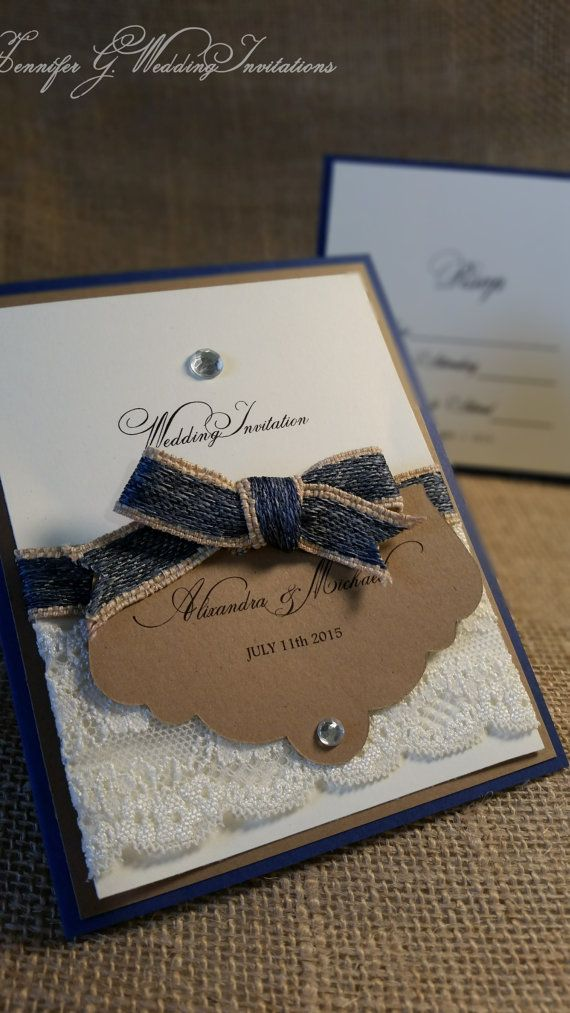 Check out this item in my Etsy shop https://www.etsy.com/listing/227822539/demin-and-diamond-wedding-invitation