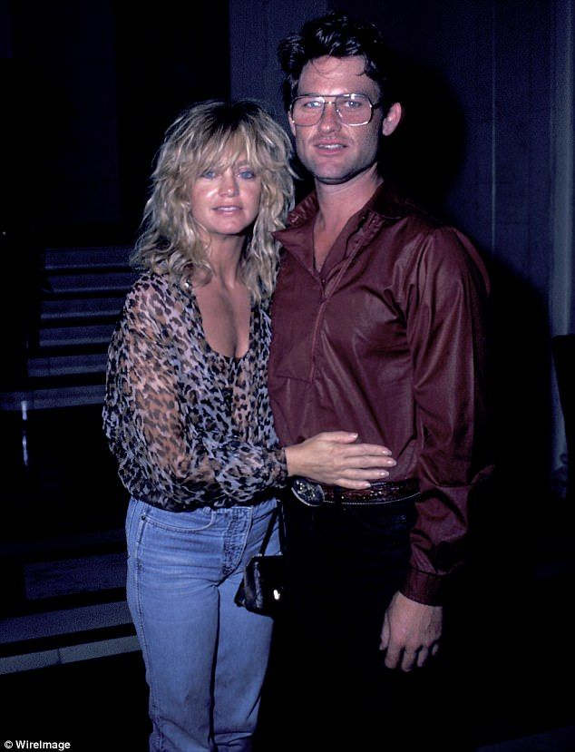 Back then: Goldie Hawn has been with Kurt Russell for 34 years. And now the blonde beauty has told People how they keep their relationship  together. Pictured 1983