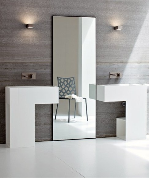 Acrylic #washbasin with towel rail ARGO by Rexa Design #bathroom @Rexa Design