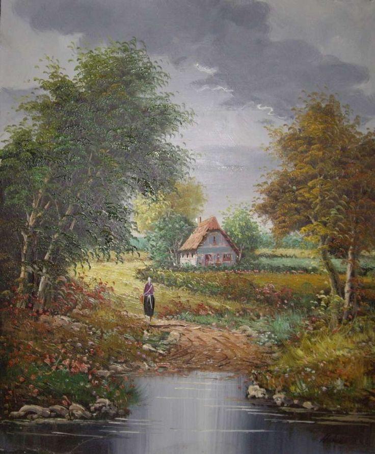 cuadro de paisaje árboles clásico SP392