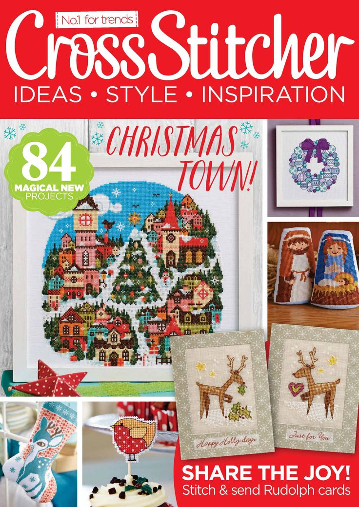 Cross Stitcher №285 2014 includes a cute tree and mittens...