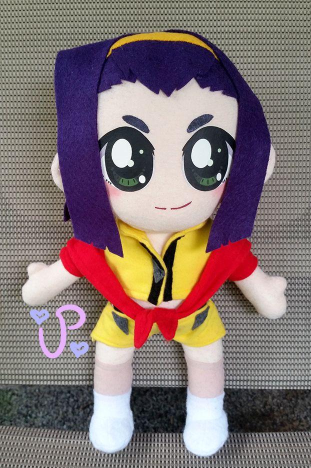 Faye Valentine from the anime Cowboy Bebop plush fanart by UltraPancake.deviantart.com on @DeviantArt