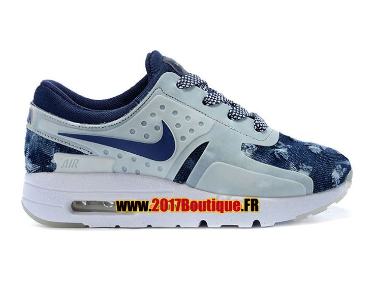Nike Air Max Zero (PS) Chaussure Nike Sportswear Pas Cher Pour Petit Enfant Blanc / Bleu