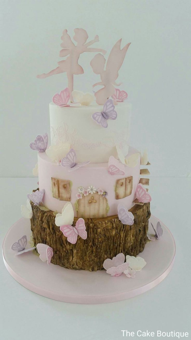 Fairies cake, butterfly theme, christening, baby shower cake. [www.facebook.com/cakeboutiquenicosia]