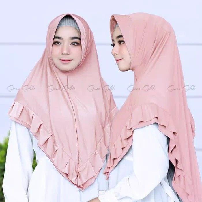 Hijab Khimar Zalina Hijab Khimar Syari Pad Antem Dengan Variasi Rempel Berlayer Di Sekeliling Khimar Pra Ilustrasi Model Pakaian Pakaian Wanita Model Pakaian