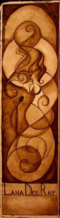 Lana Del Rey  ink & bistre on paperLana Del Rey, Art Nouveau, Art Sculpture, Art Animal, Woolen Ray, Fantasy Artworks, Art O' O'