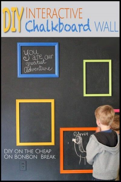 DIY Chalkboard Interactive Wall