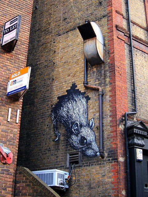creepy street art...wonder where this is?