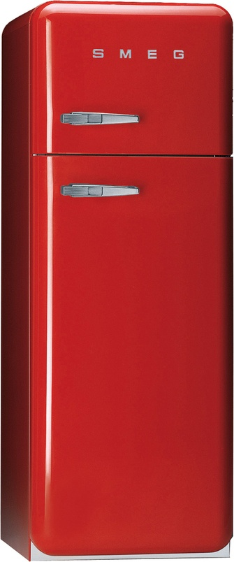 Smeg FAB30QR ''50's Style'' 315 Litres Right Hinged Fridge Freezer in Red