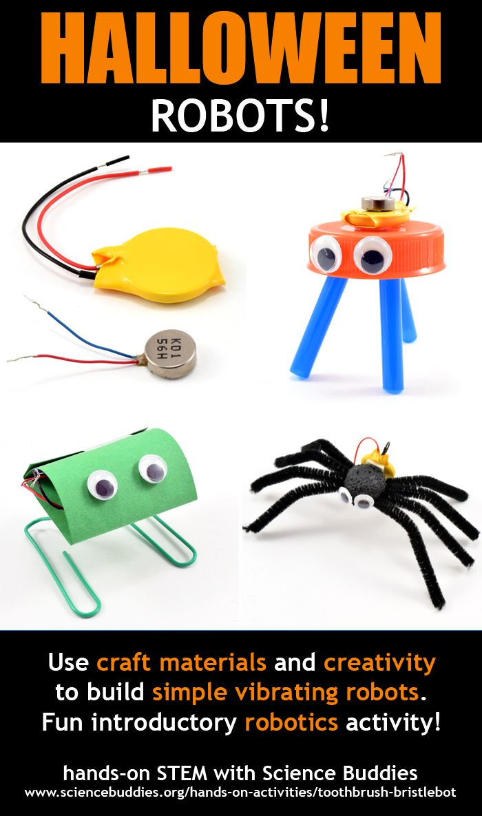 Halloween Robots / simple vibrating robots for fun hands-on STEM exploration