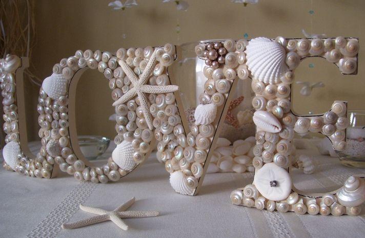 nautical beach weddings seashell wedding sign #HappyEverAfter