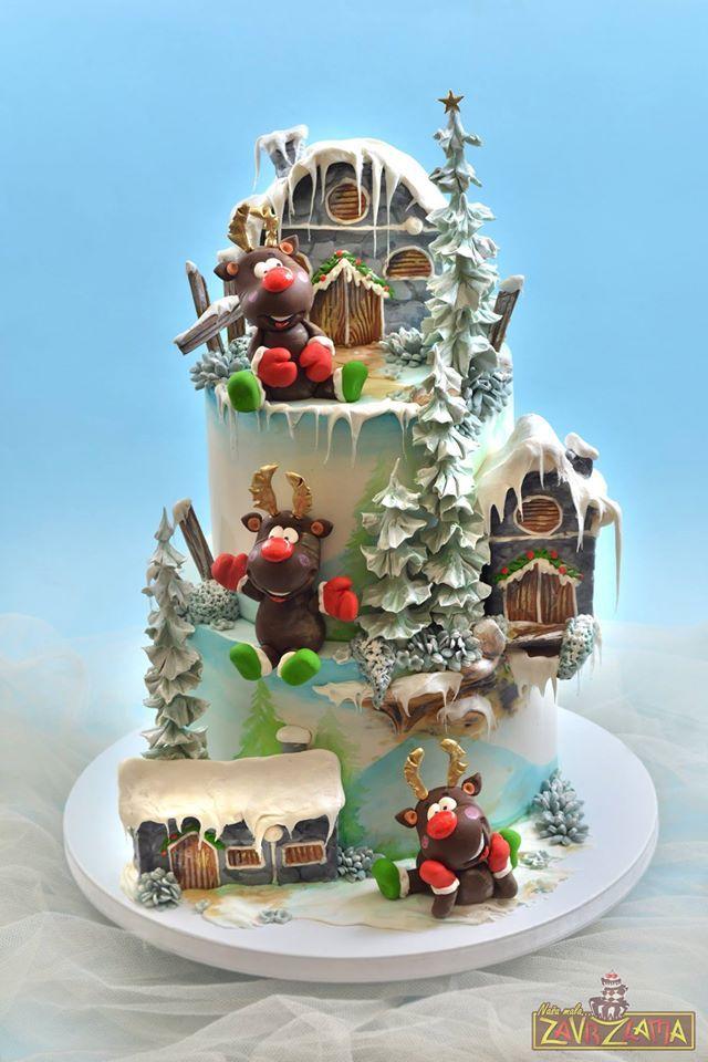 Amazing Winter Reindeer Cake