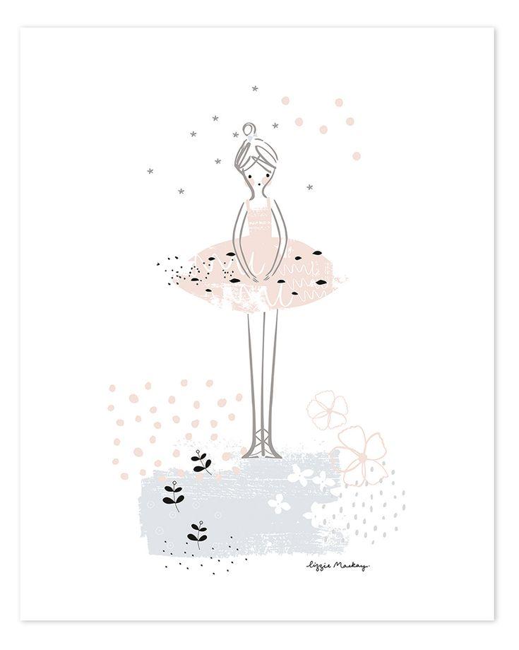 Inspirational Kinderzimmer Poster uBallerina u rosa schwarz xcm