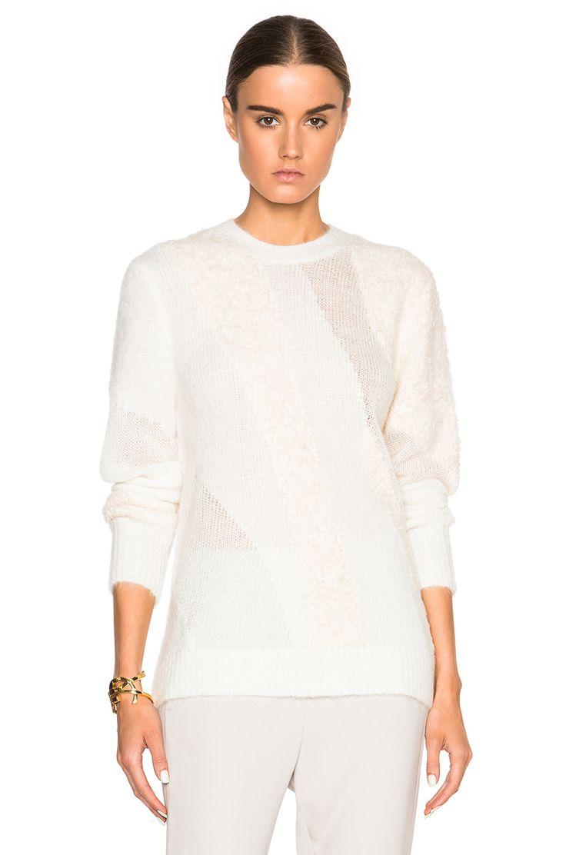 3.1 phillip lim Multi Textured Sweater in Ivory   FWRD