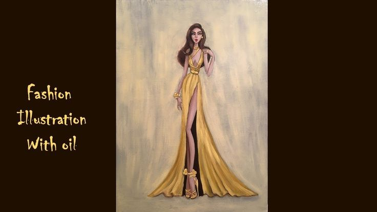 Fashion Illustration wth oil / Copy of work of Hayden Williams