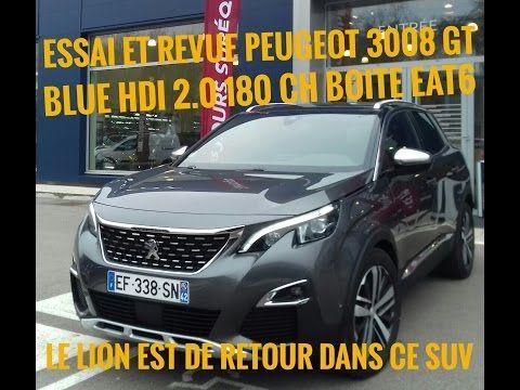 passion voiture hybride: PEUGEOT 3008 GT 2.0l 180 ch blue HDILE LION EST D...