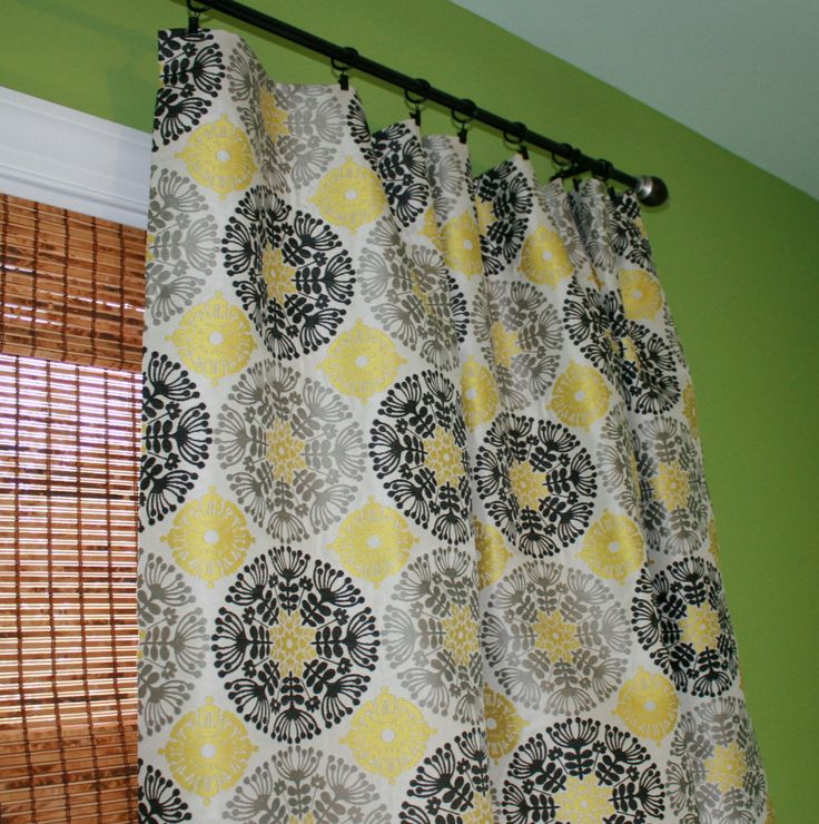 Kitchen Curtains Yellow And Gray: Black, Grey And Yellow Suzani