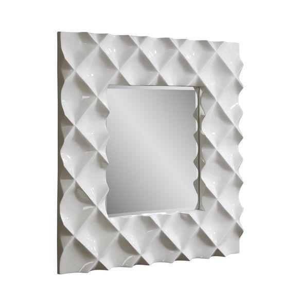 Blanco Silver White High Gloss Wall Mirror