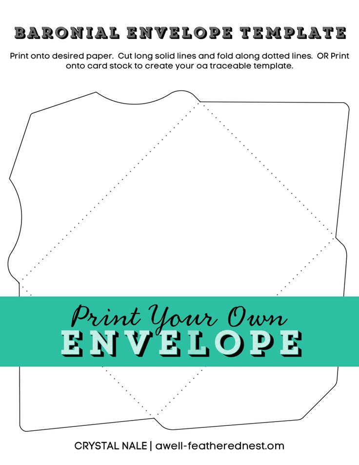 A Well Feathered Nest Printable Envelope Template