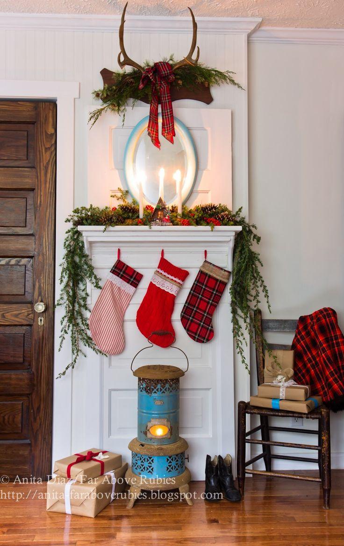 Country christmas mantel decor - Far Above Rubies Cottage Christmas Mantel And A Blog Hop