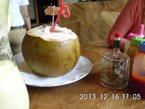 Tropical coconut water drink