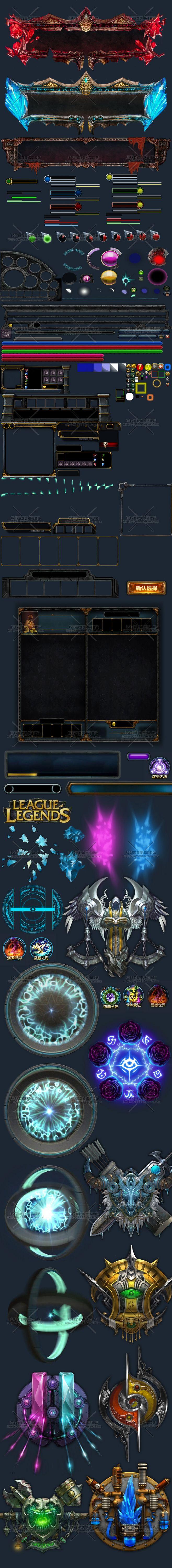 LOL英雄联盟登陆UI界面 全套游戏IC...