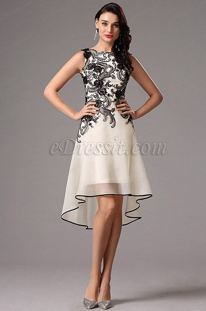 Looking for low price but high quality Sleeveless Black Lace Applique Cocktail Dress Party Dress (04160800)? eDressit.com can custom-made for you!