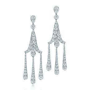 Slightly more affordable... ;)     Tiffany Legacy Collection® earrings in platinum with diamonds.