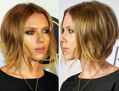 Short Inverted Bob Scarlett Johansson- loved the tousled look