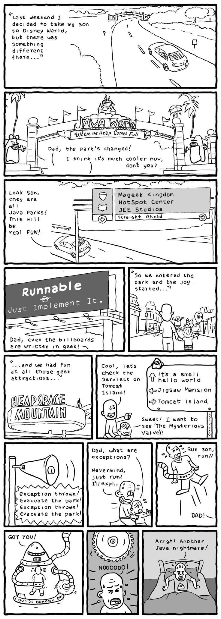 A Java Nightmare geek comic