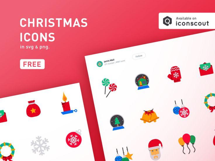 Get Free Flat Christmas icons.