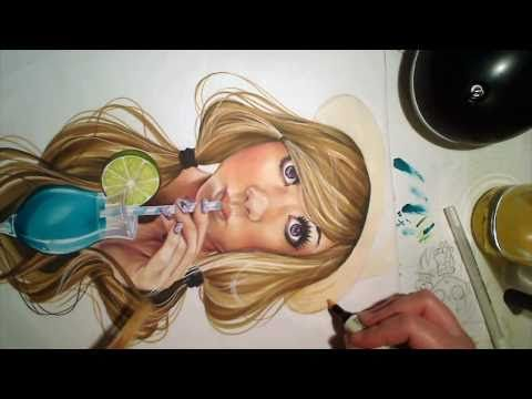 Promarker speedpainting. Seriously, one of the cutest girl images I've seen!!