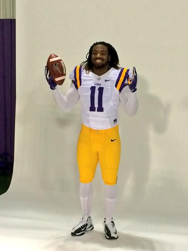 LSU Football spring photo shoot ~ Check out RollTideWarEagle.com for great sports stories around the SEC, All college football. #CFB #LSU