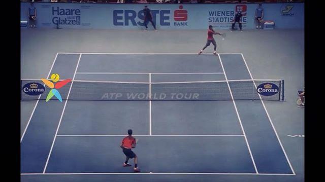 Incredible baseline smash winner from #Monfils!!!😱🙇🙌👏💨⠀ #tennis #etennisleague #etennisleaguenation