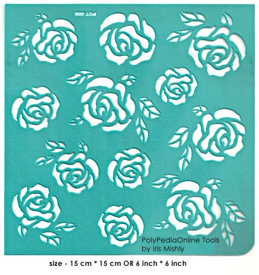 Stencil Stencils Template Roses 6 inch/15 cm by irismishly on Etsy (Craft Supplies & Tools, Scrapbooking Supplies, Embellishments & Die Cuts, silk screen, self adhesive, stencils projects, collage supplies, scrapbook supplies, paper crafts, stencil paper, diy stencil, adhesive vinyl, stencils, soft stencils, template, stencil)