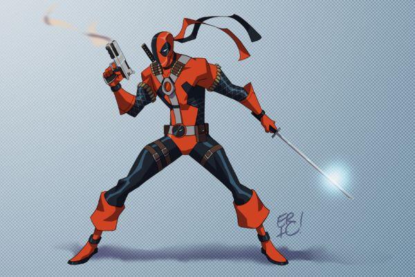 DeadpoolDeathstroke Fusion Superheroes United Pinterest