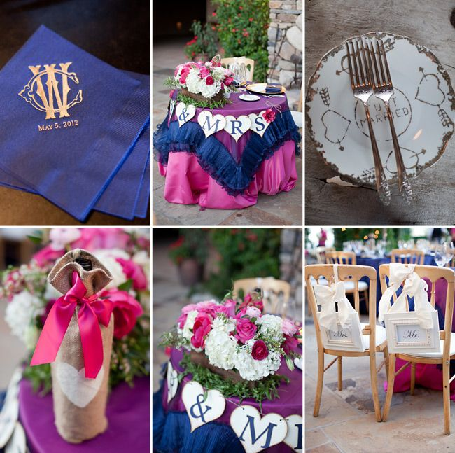 Blue And Pink Flowers Ad Rentals Make This Wedding Reception Gorgeous Phoenix Bride Groom Magazine Stephanie Fay Photogr
