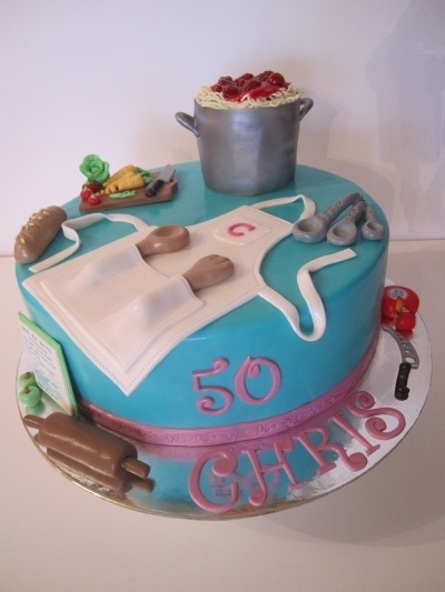 Cooking themed cake By dittle on CakeCentral.com