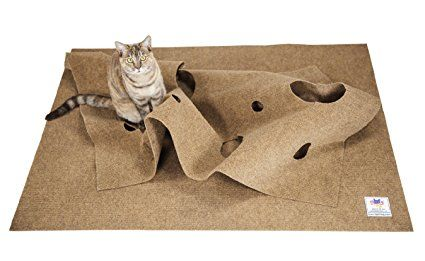 SnugglyCat the Ripple Rug, Cat Activity Play Mat, Fun Interactive Play, Training, Scratching, Thermal Base, Multi-Use Habitat Bed Mat