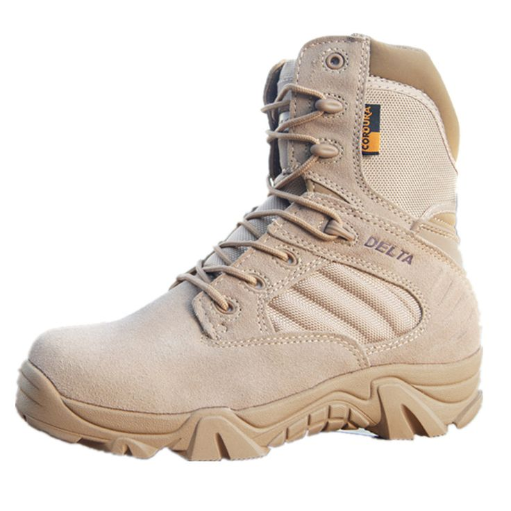 ==> [Free Shipping] Buy Best Winter / Autumn High Quality Men Military Leather Boots Special Forces Tactical Desert Combat Boats Outdoor Shoes Snow Boots Online with LOWEST Price | 32776441660
