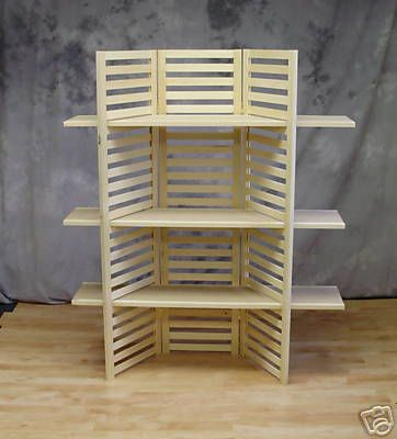 display shelf portable with 3 shelves ebay stands. Black Bedroom Furniture Sets. Home Design Ideas