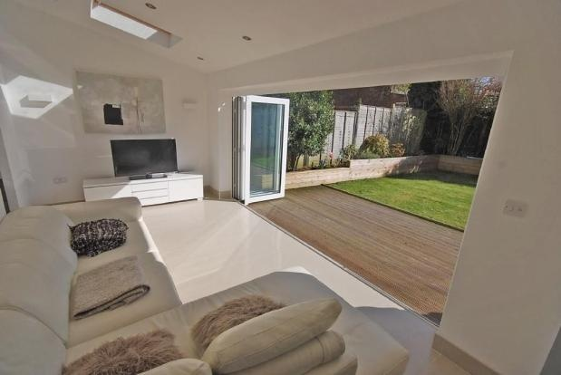 Garden Room, sliding doors with velux roof windows