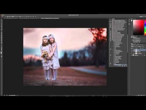 ▶ Chasing Light Maleficent Photoshop Action Tutorial - YouTube