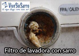 filtro de lavadora con sarro