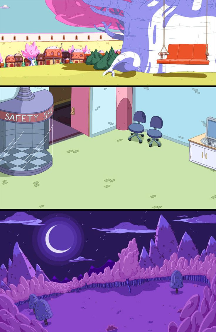 art inspiration and references — Adventure Time Backgrounds ByCapt. Derek Drawn by...