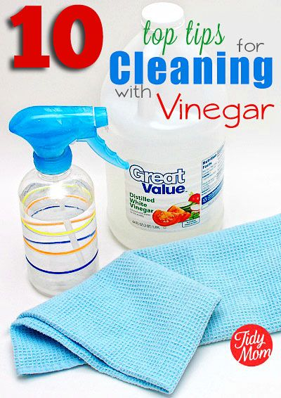10 Top Tips for Cleaning with Vinegar - the all natural way to clean.