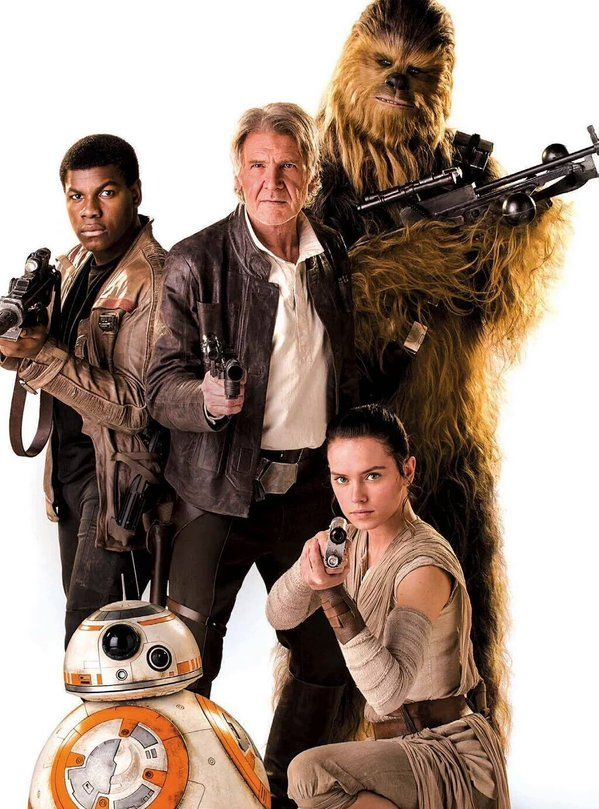 Star Wars TFA cast photo.