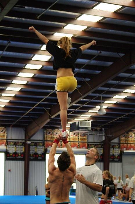I really wish we had male cheerleaders...